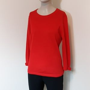 Kate Spade Red Bow Cashmere Wool Sweater Sz M